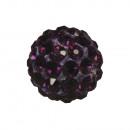 Shamballa gyöngy, 10mm ø, ametiszt, 1 darab