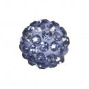 Shamballa gyöngy, 10 mm ø, könnyű zafír, 1 darab