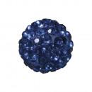 Shamballa gyöngy, 12 mm ø, királykék, 1 darab