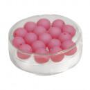 Silk-Bead Glas Perle, 8mm ø, fuchsia, 18 Stück