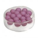 wholesale Beads & Charms: Silk-bead glass bead, 8mm ø, burgundy, 18 pieces