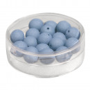 Großhandel Beads & Charms: Silk-Bead Glas Perle, 8mm ø, petrol, 18 Stück