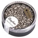Delica rocailles, 2, 2 mm ø, staalgrijs, 4 g