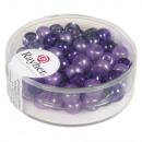 Rocailles-Mix mit Großloch, 5, 5mm ø, violett,