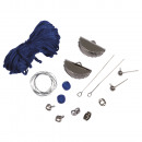wholesale Jewelry & Watches: Crafting Kit: Boho Earrings Crescent, Real Blue,