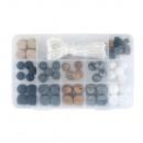hurtownia Upominki & Artykuly papiernicze: Silikonowe pudełko z perłą, czarne,