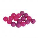 Siliconen kralen, 12 mm ø, roze, 16 stuks