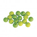 Siliconen kralen, 12 mm ø, groenblijvend, 16 stuks