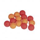 Siliconen kralen, 15 mm ø, klassiek rood, 14 stuks