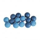 Siliconen kralen, 15 mm ø, nachtblauw, 14 stuks