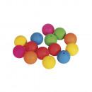 Siliconen kralen, 15 mm ø, gekleurd, 14 stuks