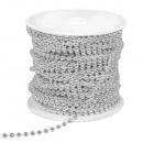 Łańcuch deko, 4 mm ø, srebrny, 30 m