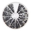 Hotfix rhinestones, rock crystal, 580 pieces