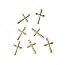 Krzyż akrylowy, 28 mm, złoty, 5 sztuk