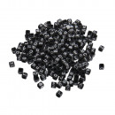 groothandel Home & Living: Kunststof letterkralen, zwart, 40 g