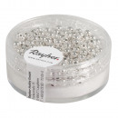 wholesale Jewelry Storage: Plastic round beads, 3 mm ø, silver, 250 pieces