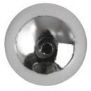 groothandel Sierraadkisten: Plastic ronde kralen, 10 mm ø, zilver, 22 stuks