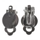 wholesale Earrings: Ear clip m. Eyelet, 12mm ø, platinum,