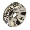 Strass rondelle m. Pietre di cristallo, ø 8mm, pla