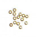Crimp pearl, gold-plated, 10 pieces