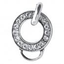 mayorista Perlas: Colgante de latón con dije, 2 cm ø, platino, 1 pie