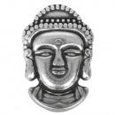 Metalen hanger: Buddha , antiek zilver,