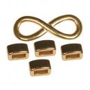 Elementi in metallo Infinito, oro,