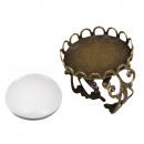 Toma de metal: anillo m. Borde decorativo, 2cm ø,
