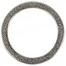 Metalen ring plat, 37 mm ø, zilver, 1 stuk
