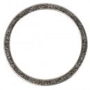 Metalen sieradenring plat, 50mm ø, zilver, 1 stuk