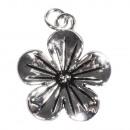 Metall-Anhänger Blüte, silber, 1 Stück