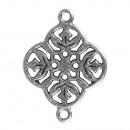 Ornement ornemental en métal fleur, argent, 1 pièc