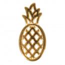 Metall-Anhänger Ananas, gold, 1 Stück