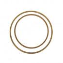 Set of flat metal rings, gold, 4 pieces