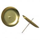 Adventi koszorú gyertyatartó, 8cm ø, arany, 4 db