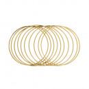 Metalen ringen, gecoat, 20cm ø, goud, 10 stuks
