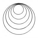 Metalen ringen geassorteerd , zwart, 5 stuks