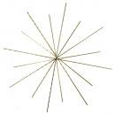 Estrella de alambre para cuentas, 10 / 8cm ø, 3 pi