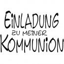 H.- Stempel Einladung z. Kommunion,