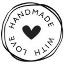 Stamp Handmade With love , 3cm ø,