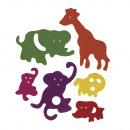 Habgumi állatkert, vegyes, 80 db