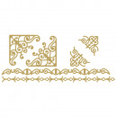 Glue motif: Borders, gold, 1 sheet