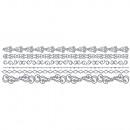 Adhesive motif borders, silver,