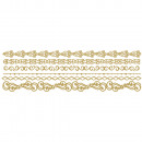 Adhesive motif borders, gold,