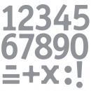 grossiste Outils a main: Numéros de lettres adhésives, argent,