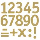 Großhandel Handwerkzeuge: Klebeschrift Zahlen, gold,