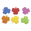 Crepla Stamped Clovers, multicolored, 100 pieces