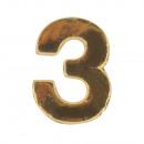 grossiste Outils a main: Numéros de cire -3-, or, 2 pièces