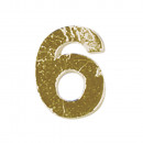 Großhandel Handwerkzeuge: Wachszahlen -6-, gold, 2 Stück