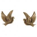 Wax motif: dove, gold, 1 pair